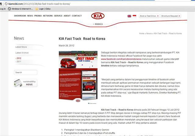 kia fast track 2012 – adu cepat berhadiah gratis ke korea – 04 mei 2012