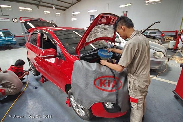 all new picanto merah pedas servis 10000 km di kmi bintaro – 21 desember 2012