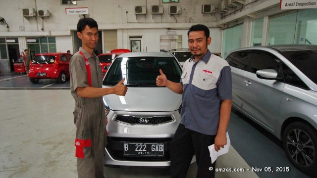 Kia All New Picanto Bright Silver Servis Ringan di KMD Bintaro - 05 November 2015