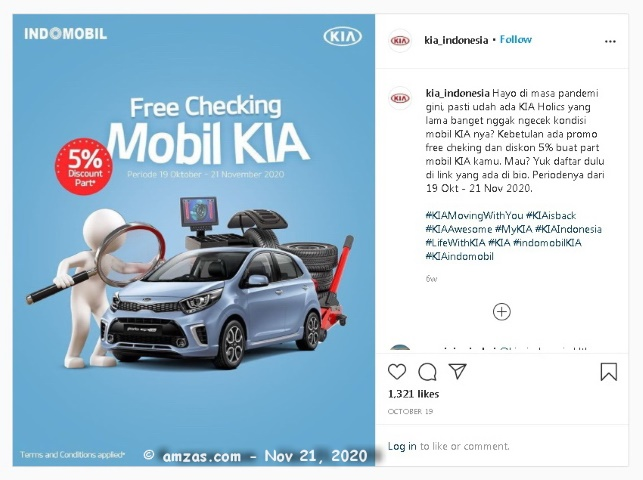 Kia All New Picanto Bright Silver Free Check Up di Indomobil Kia Cimone - 21 November 2020